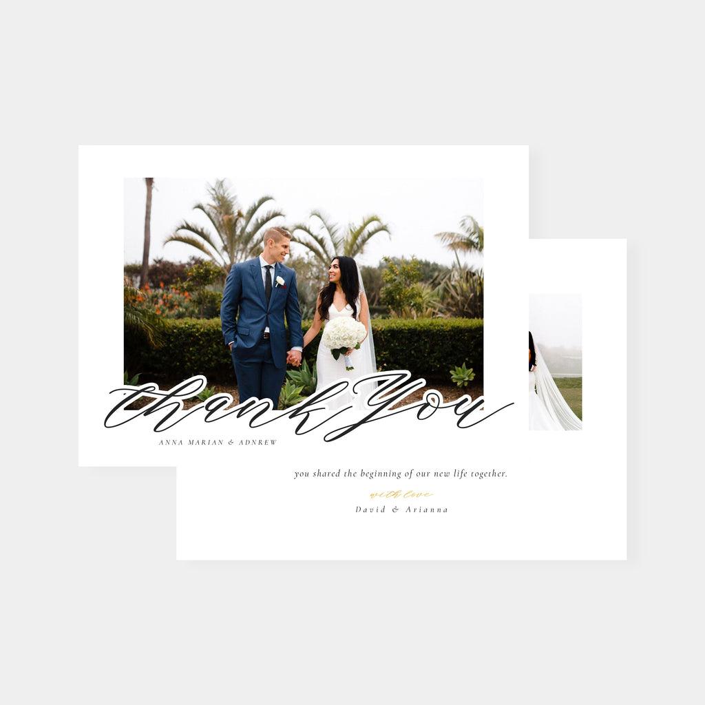Today & Always  - Wedding Thank You Card - Salsal Design