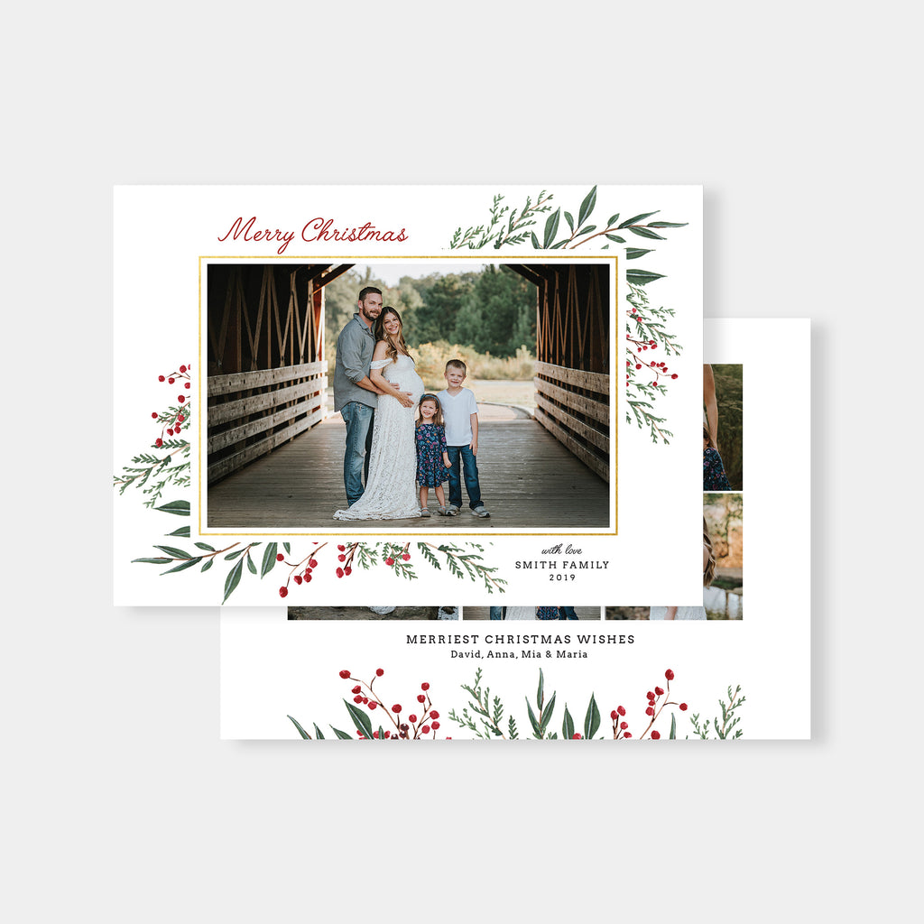 Smith | Horizontal - Christmas Card - Salsal Design