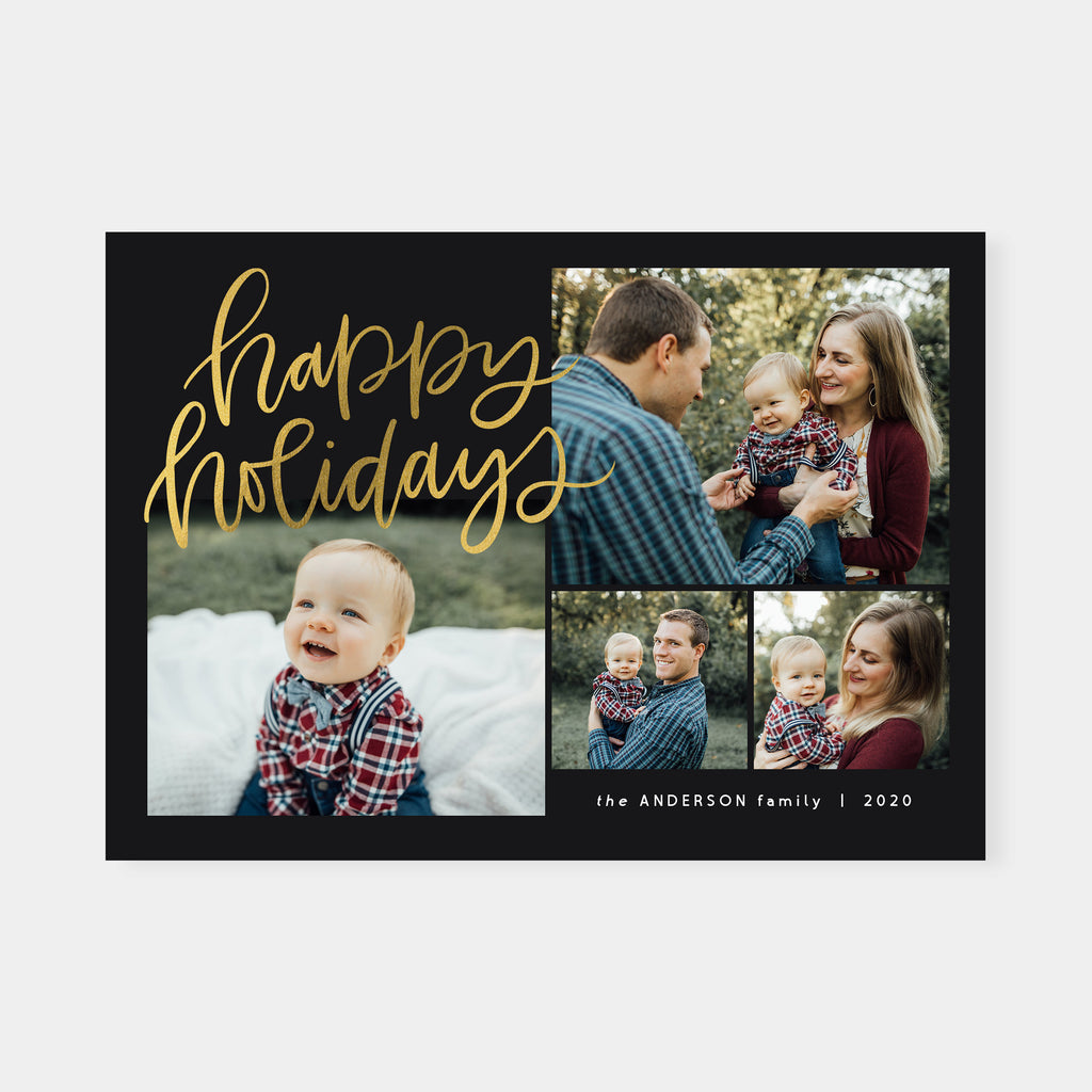 Classic Foil - Christmas Card-Template-Salsal Design
