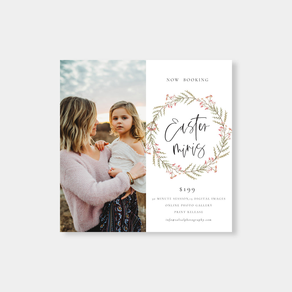 Round Branch - Easter Mini Session Template - Salsal Design