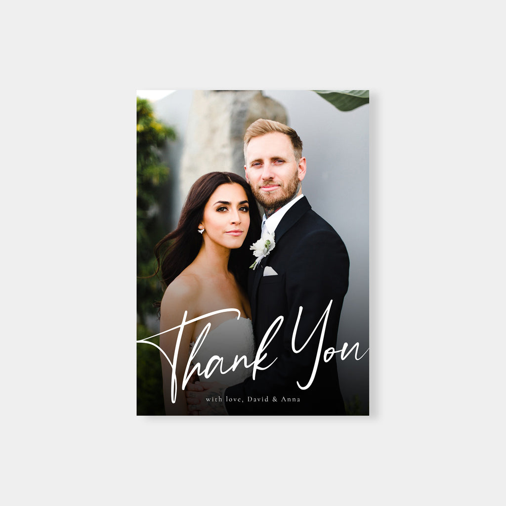 Hand Lettered Thanks - Wedding Thank You Card-Template-Salsal Design