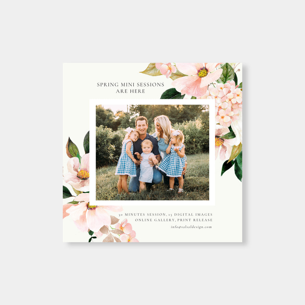 Pink Bloom - Spring Mini Session Template - Salsal Design