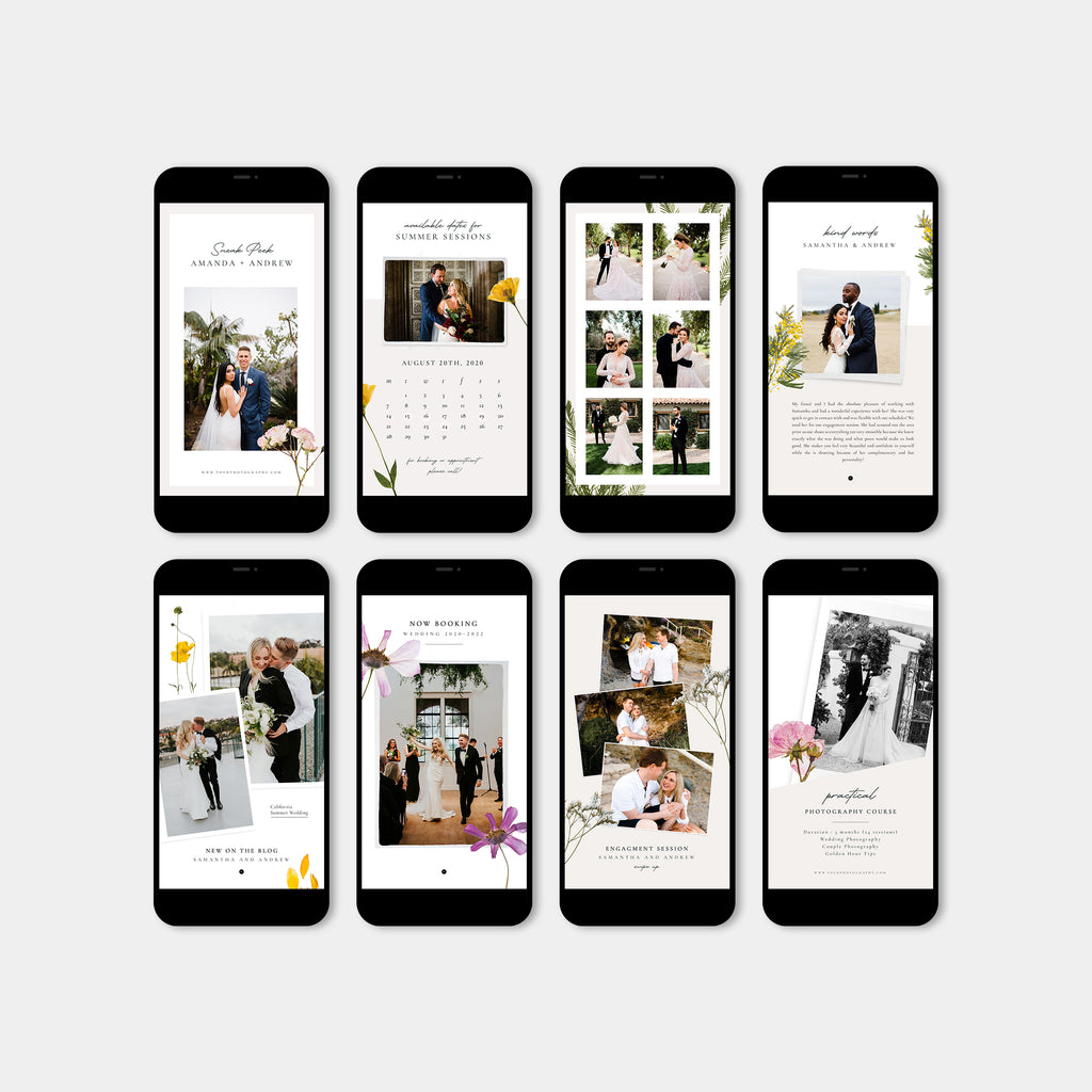 Flowery - Wedding Instagram Story - Salsal Design