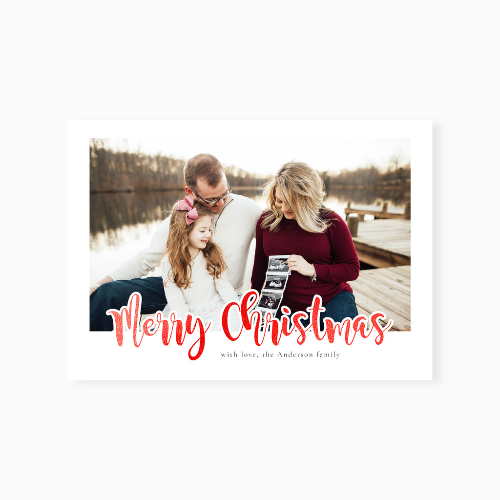 Red Foil - Christmas Card-Template-Salsal Design