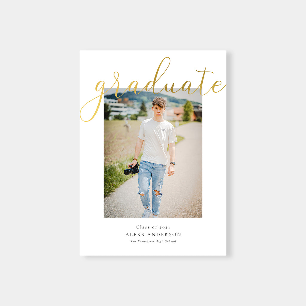 Minimal Gold - Graduation Announcement Template-Template-Salsal Design