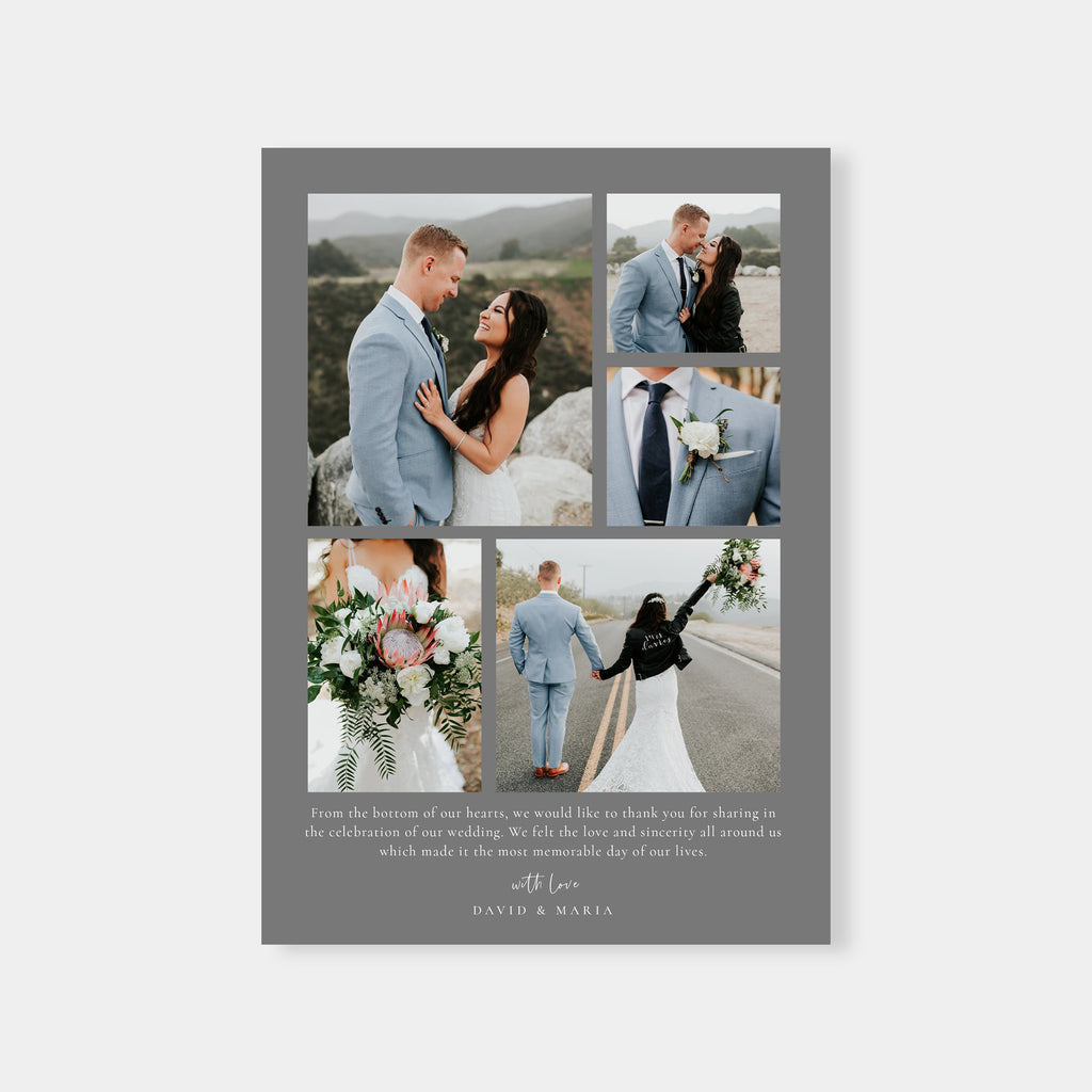 In Love - Wedding Thank You Card-Template-Salsal Design