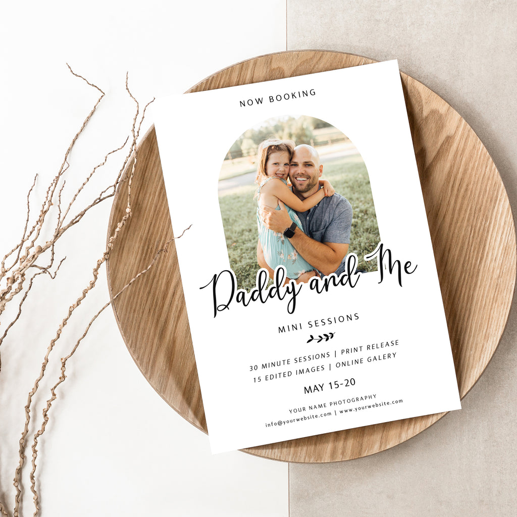 Little Girl - Daddy & Me Mini Session Template-Template-Salsal Design
