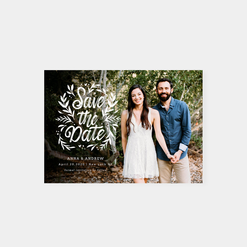 Forest Love - Save The Date - Salsal Design
