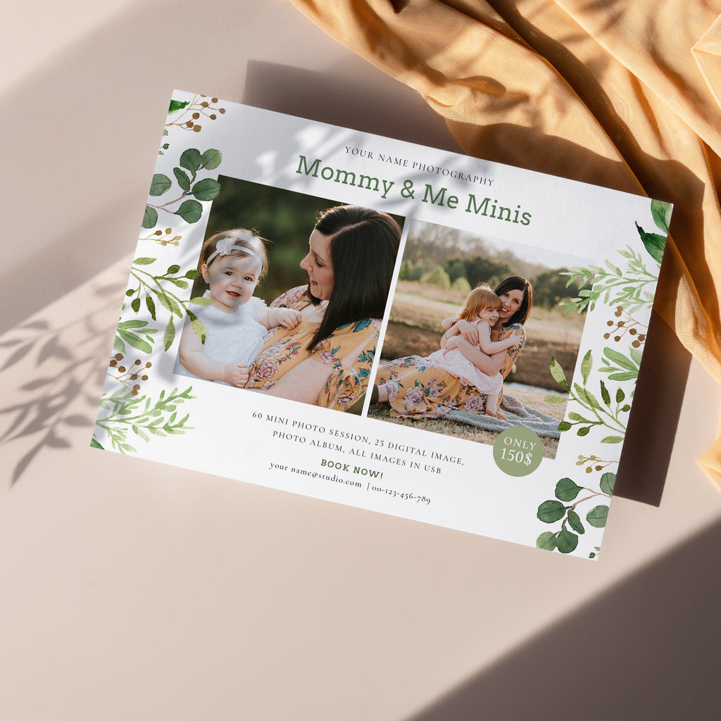 Greenish - Mommy & Me Mini Session Template - Salsal Design