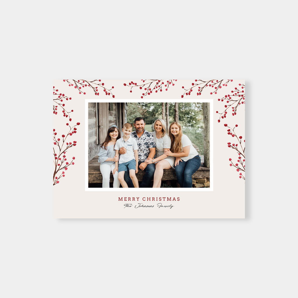 Red Berries - Christmas Card - Salsal Design
