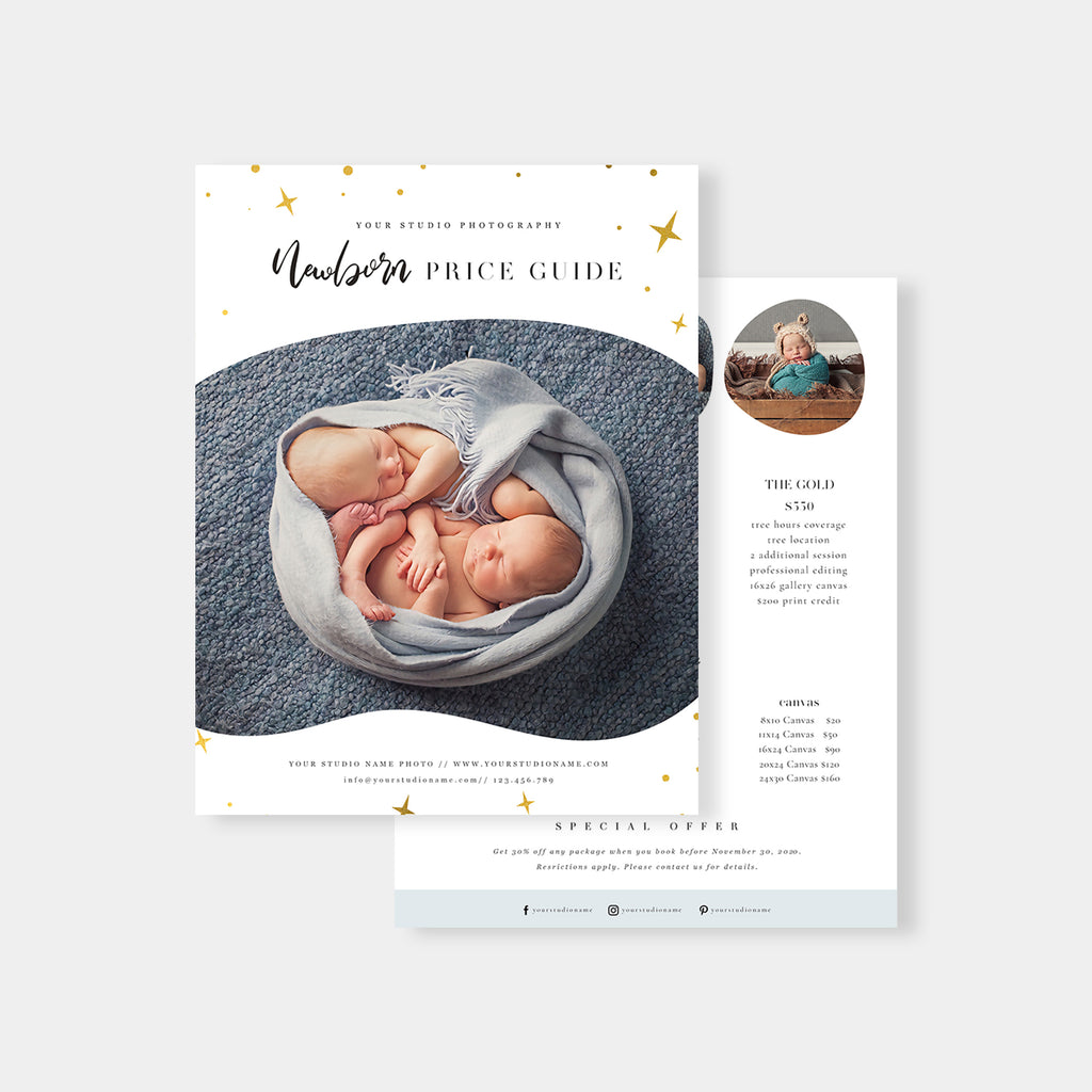 Stars - Newborn Photography Price Guide - Salsal Design