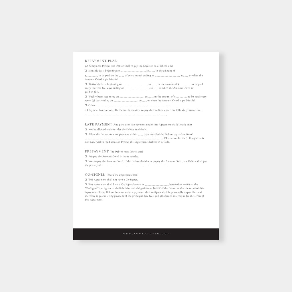 Classic - Wedding Photography Payment Plan - Salsal Design