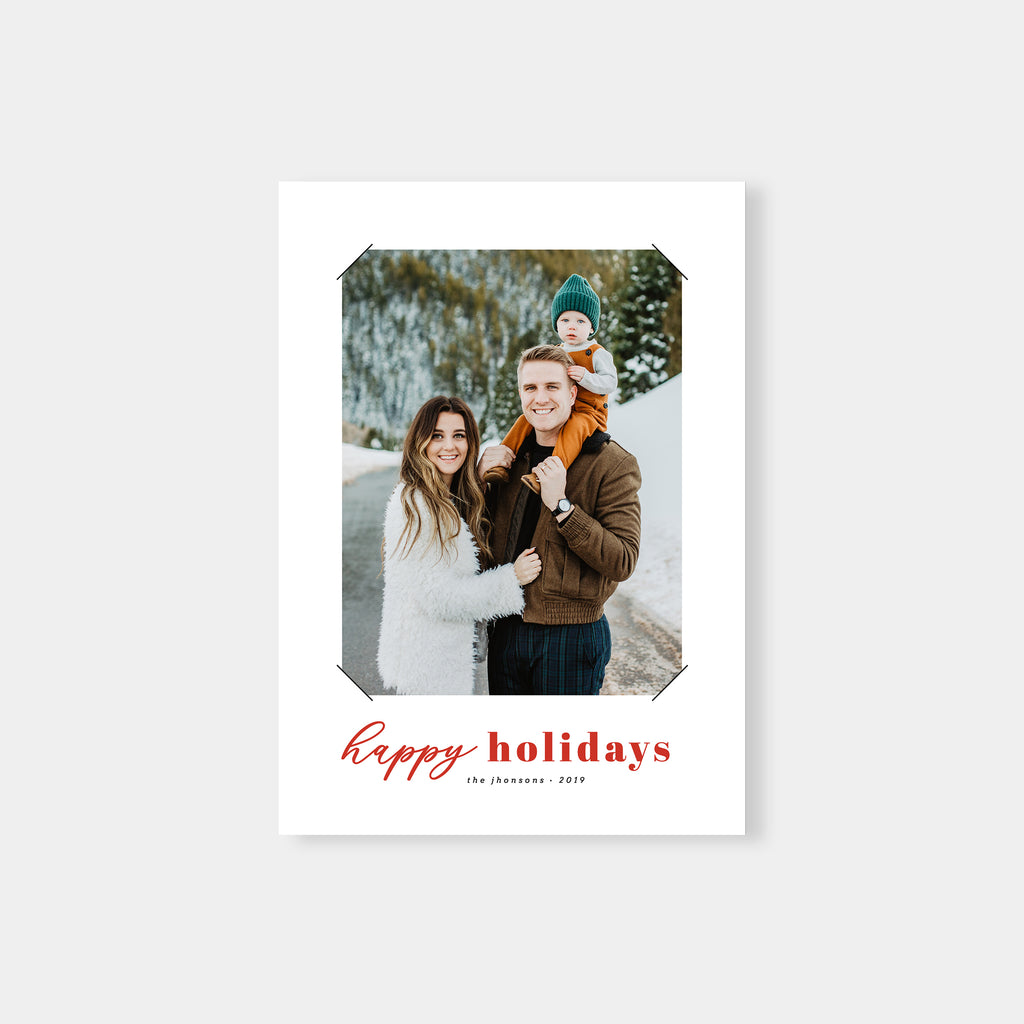 Old School - Holiday Card - Salsal Design