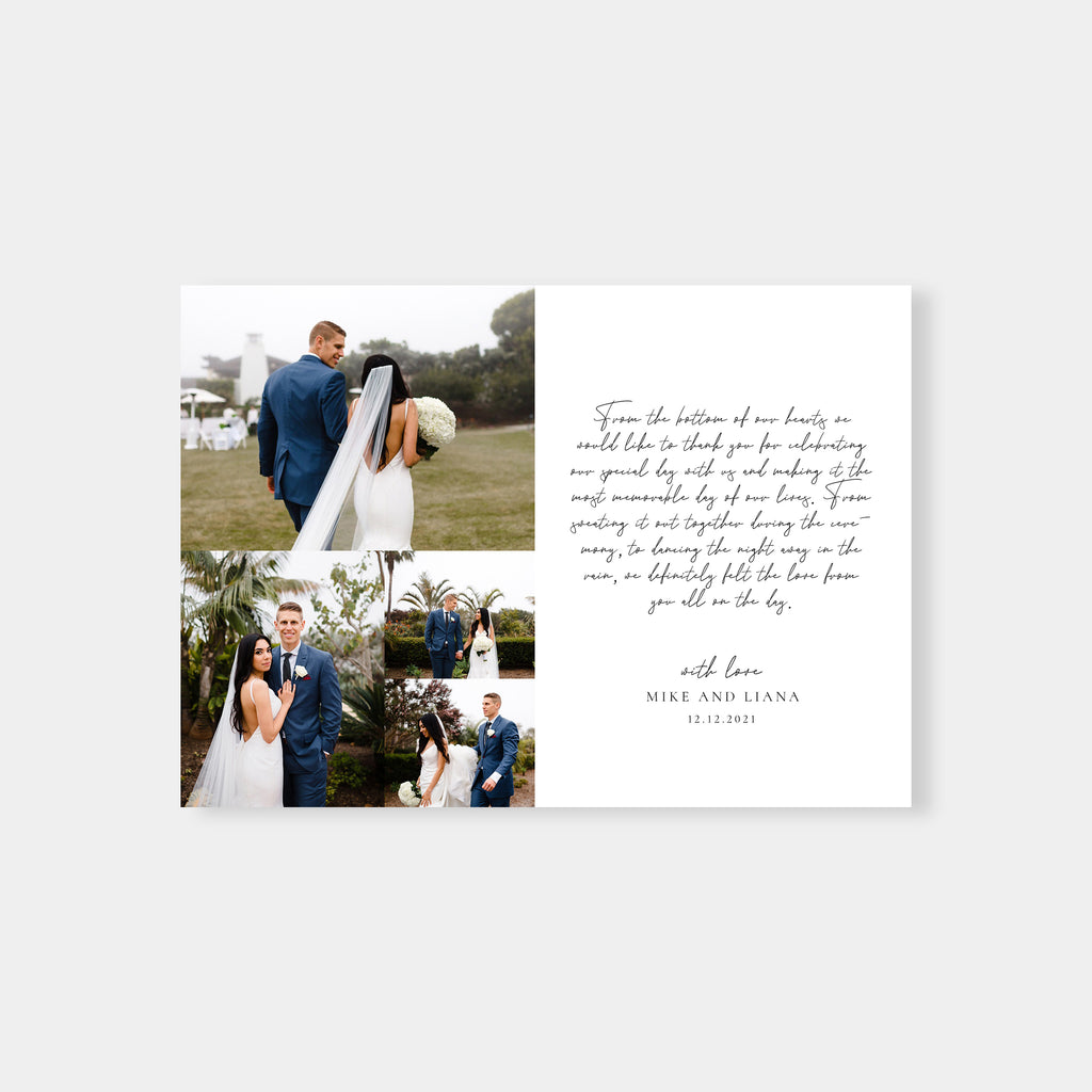 Simple Thanks - Wedding Thank You Card-Template-Salsal Design