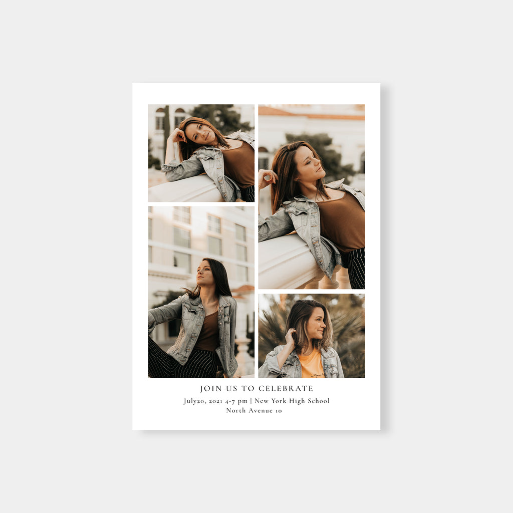 Bold Chic Grad - Graduation Announcement Template-Template-Salsal Design
