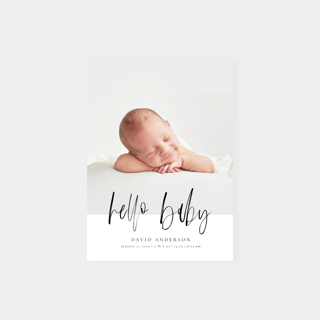 Hello Baby - Birth Announcement Template - Salsal Design