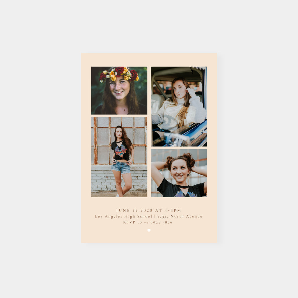 Blush 2020 - Graduation Announcement Template - Salsal Design