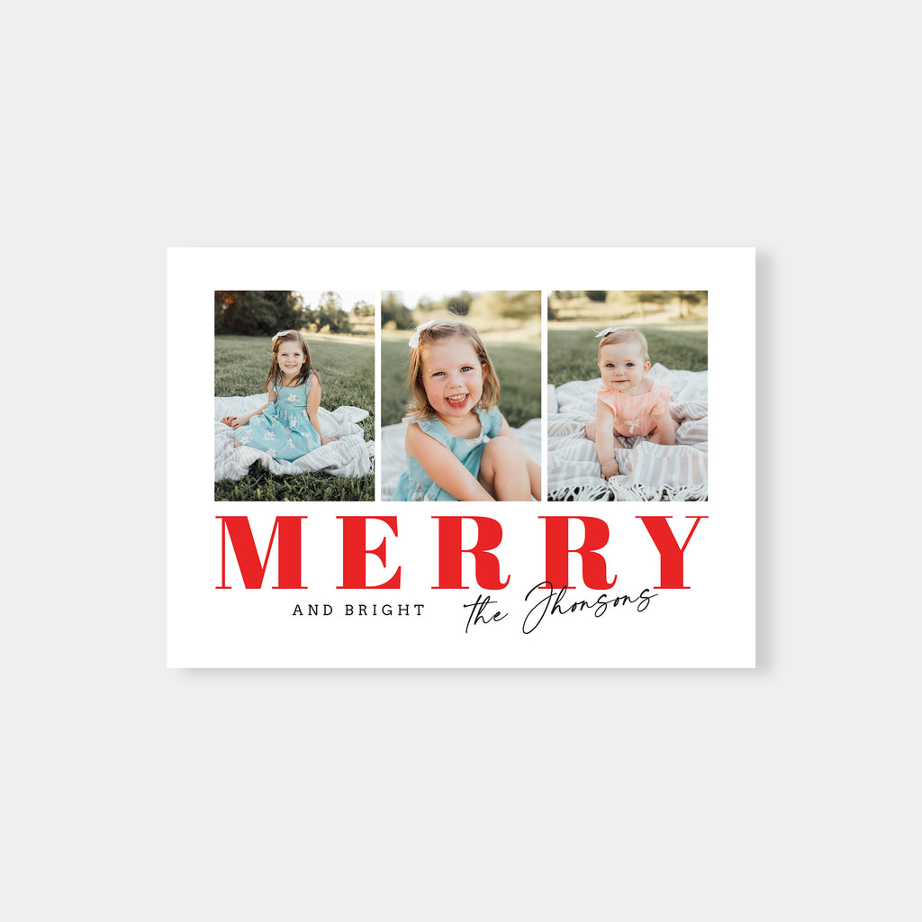 Stylish Merry - New year Card - Salsal Design