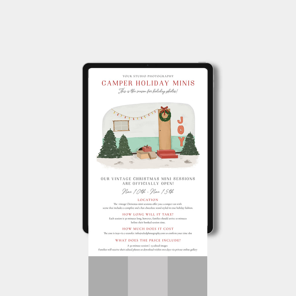 Festive Camper - Holiday Sessions Email Marketing-Template-Salsal Design