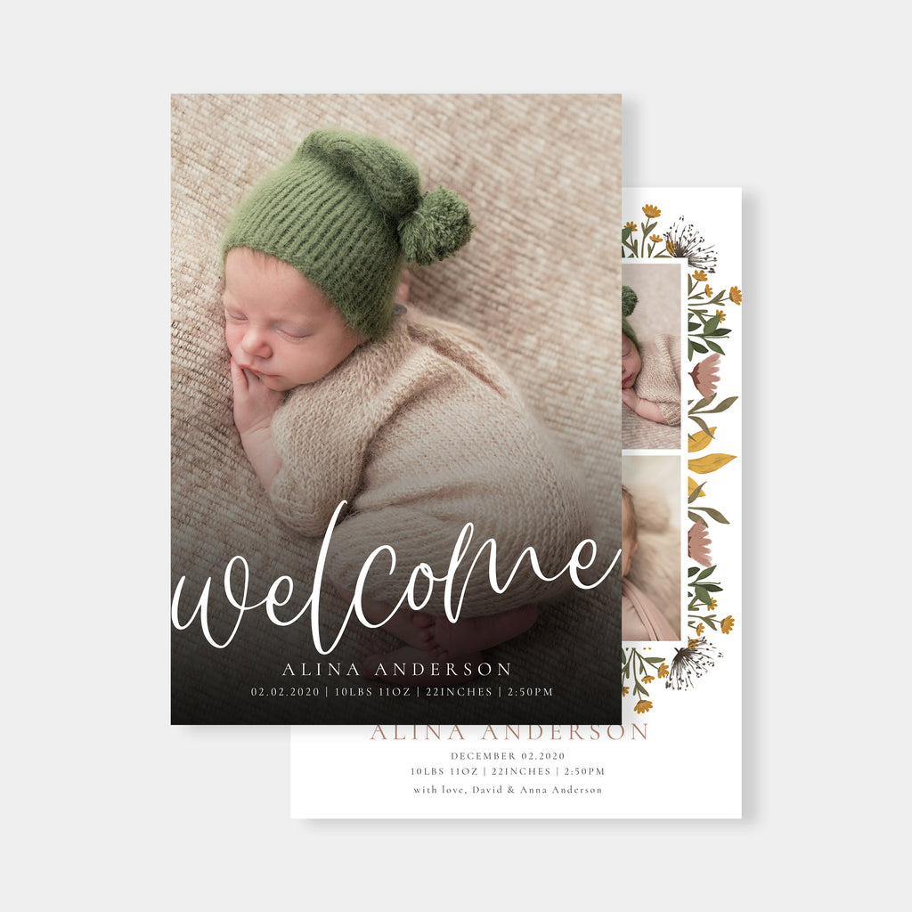 Joyful Arrival - Birth Announcement Template-Template-Salsal Design
