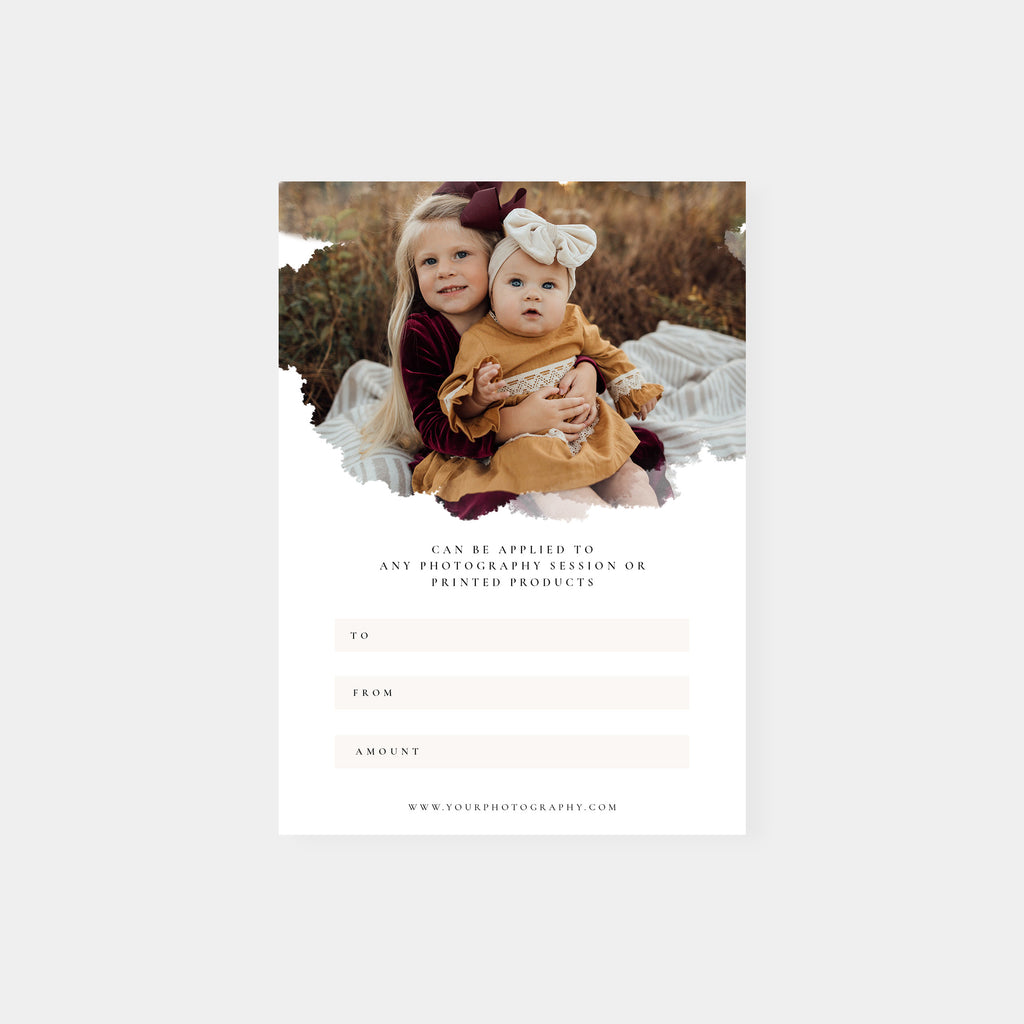 With Love - Photographer Gift Certificates Template - Salsal Design