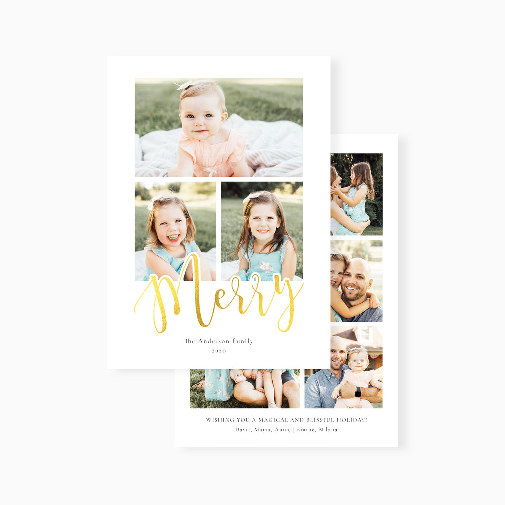 Simple Merry - Holiday Card-Template-Salsal Design