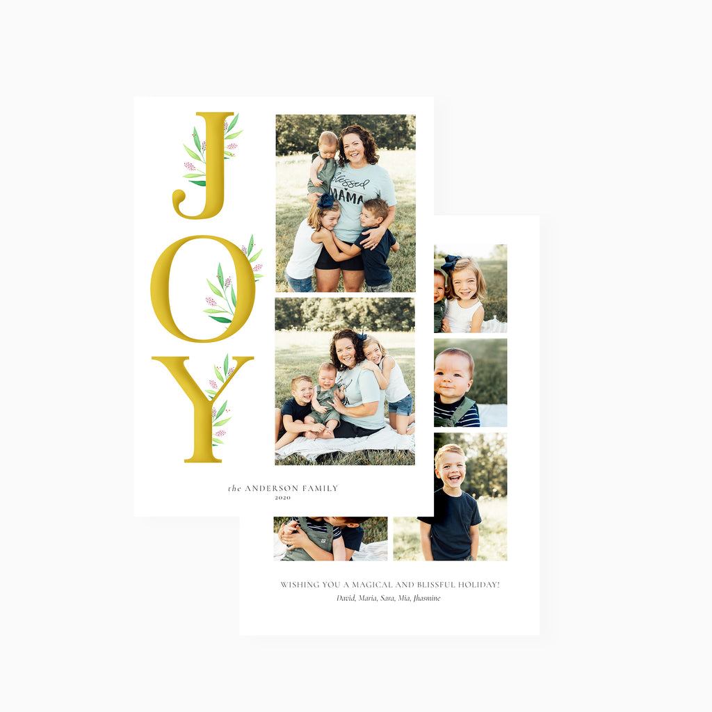 Extra Joy - Holiday Card-Template-Salsal Design
