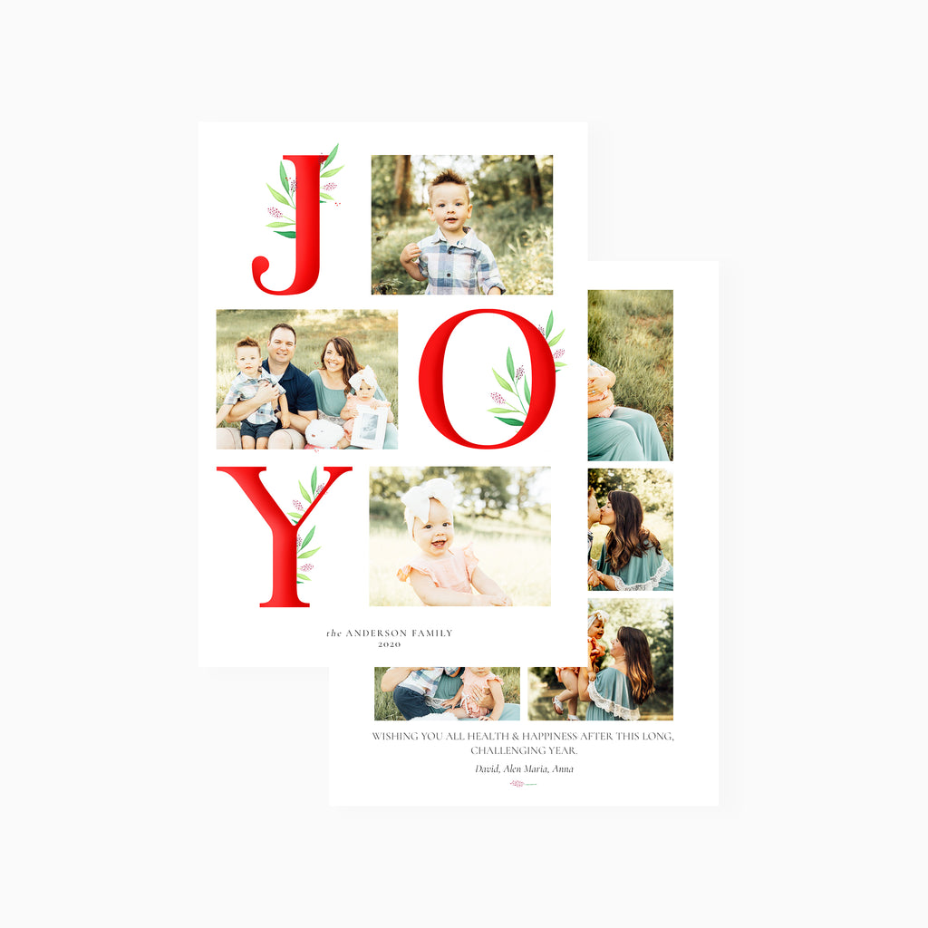 Modern Joy - Holiday Card-Template-Salsal Design