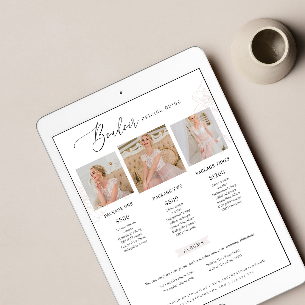 Boudoir Script - Wedding Photography Price Guide Template-Template-Salsal Design