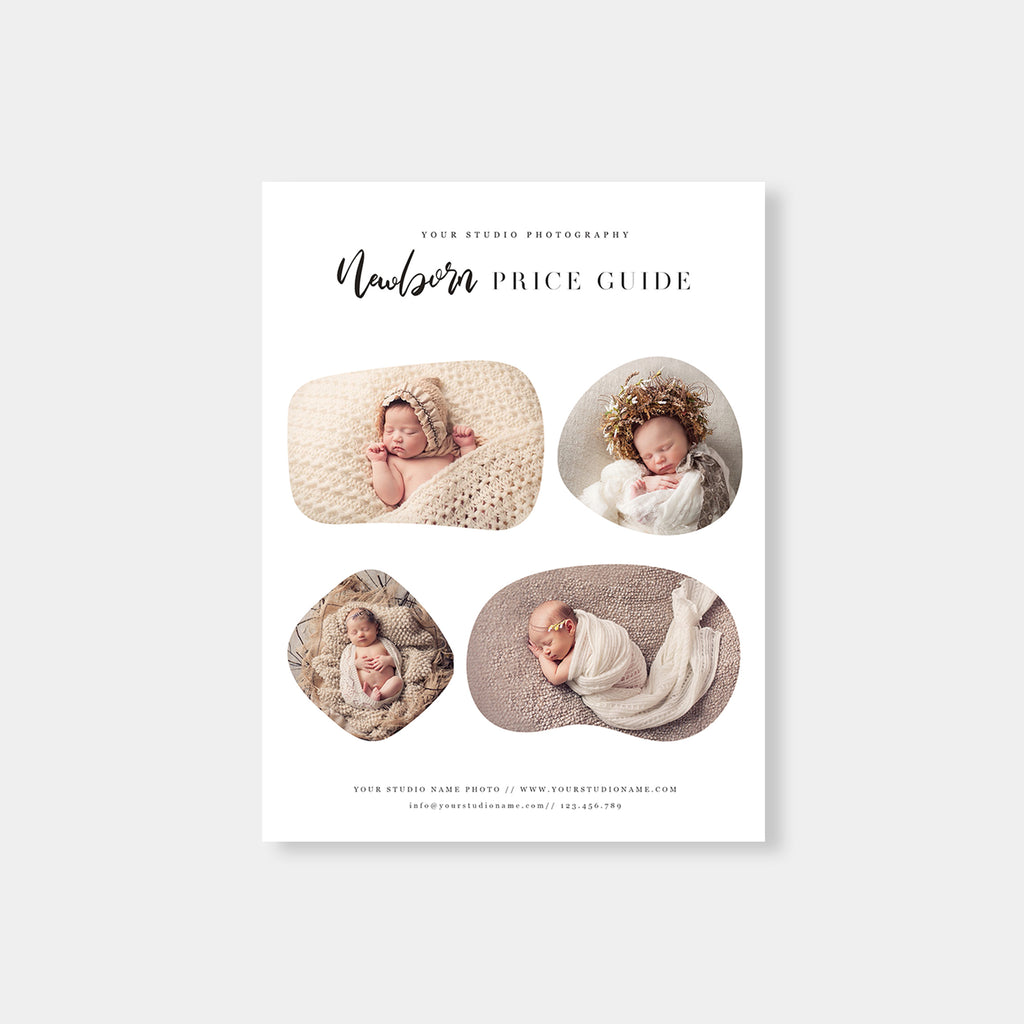 Modern Classic - Newborn Photography Price Guide - Salsal Design