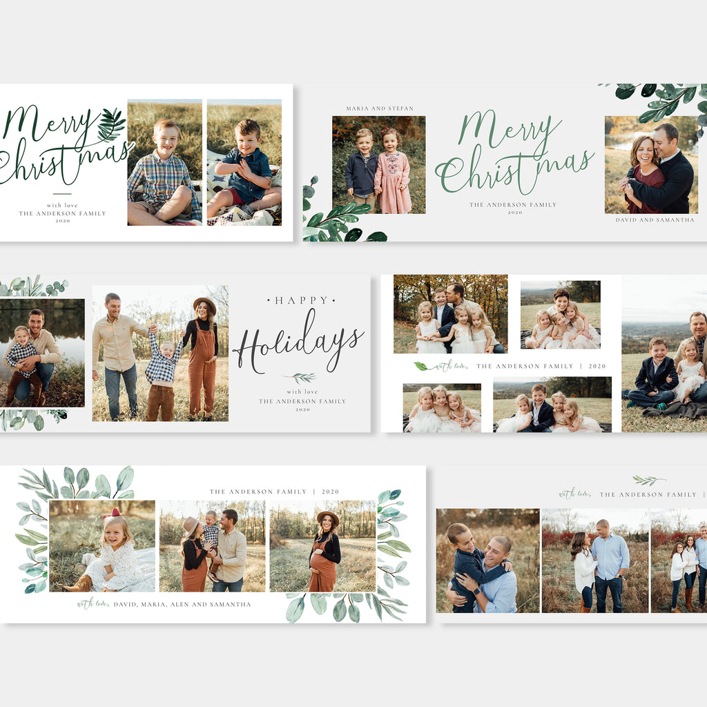Vintage Floral - Christmas Facebook Cover-Template-Salsal Design