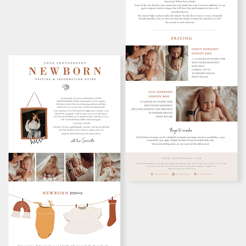Watercolor - Newborn Email Marketing - Salsal Design