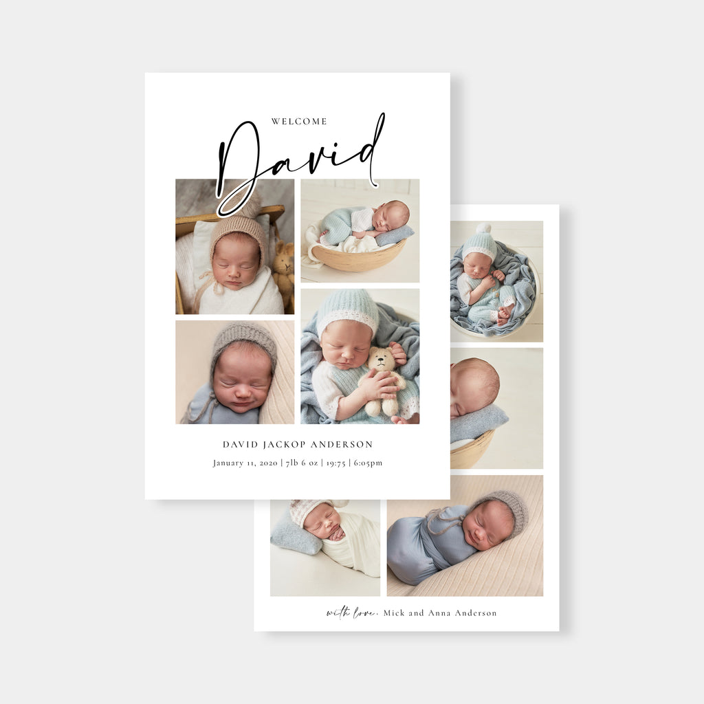 Baby Name - Birth Announcement Template-Template-Salsal Design