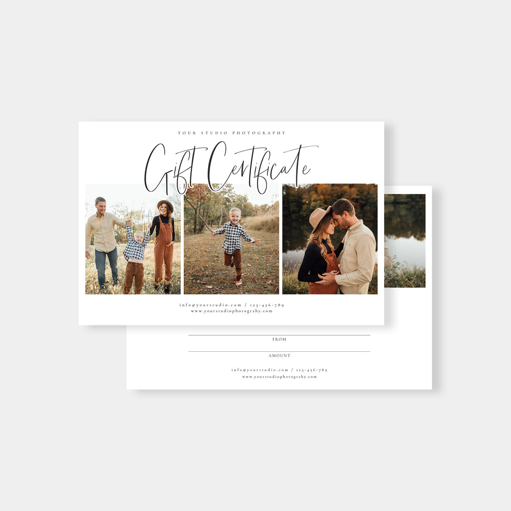 Little One - Photographer Gift Certificates Template-Template-Salsal Design