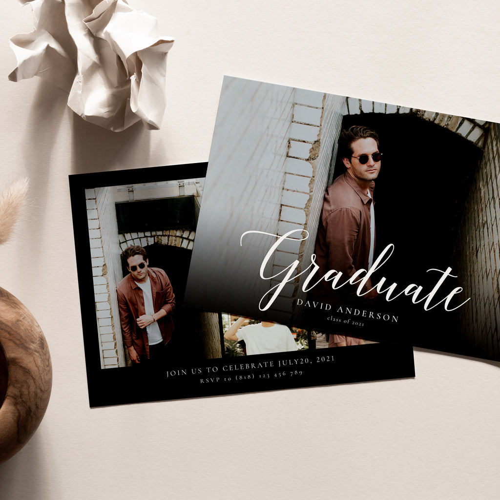 Classic Graduate - Graduation Announcement Template-Template-Salsal Design