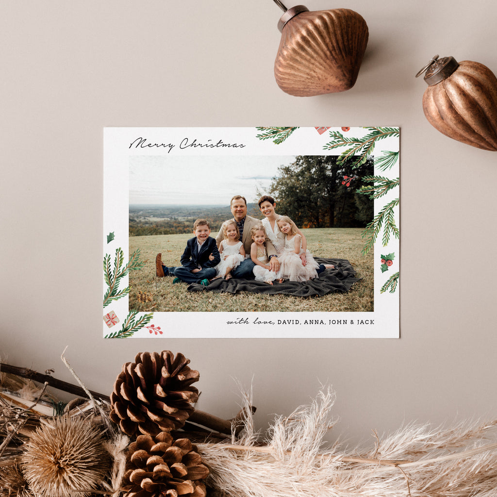 Merry Botanical - Christmas Card-Template-Salsal Design