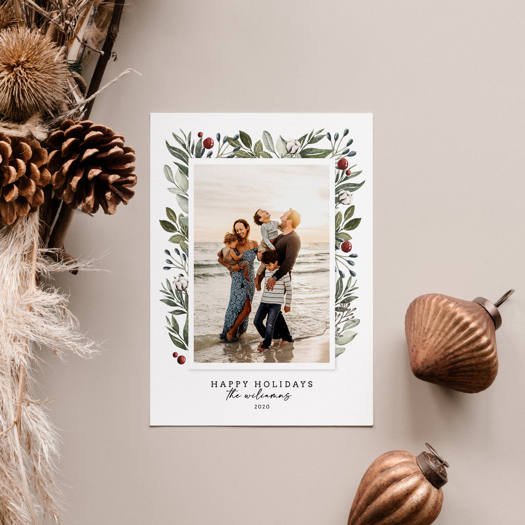 Modern Elegance - Christmas Card-Template-Salsal Design