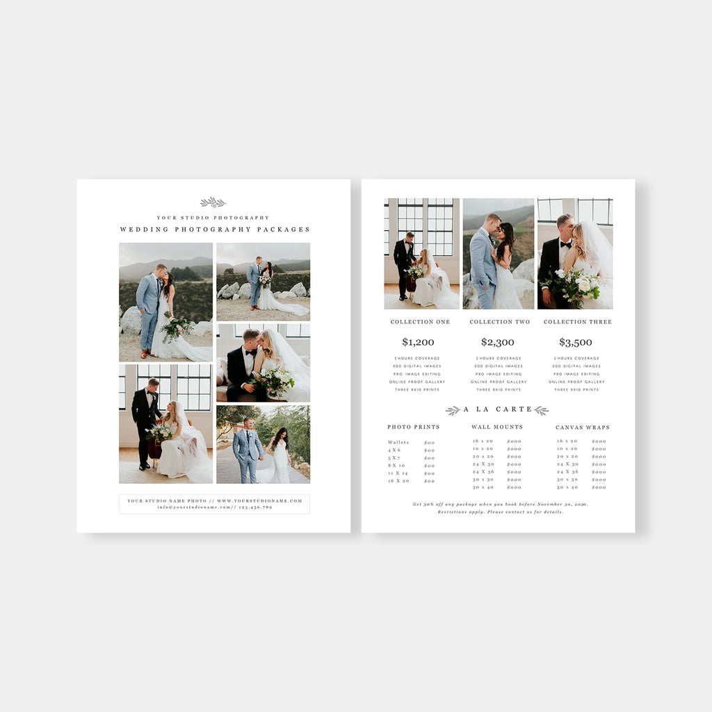 Minimal Element - Wedding Photography Price Guide Template-Template-Salsal Design