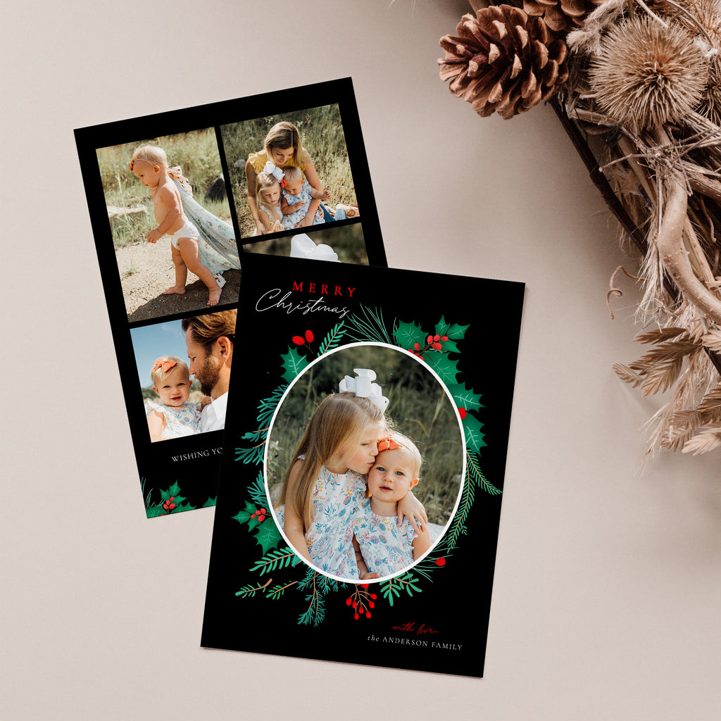 Cozy winter - Christmas Card-Template-Salsal Design