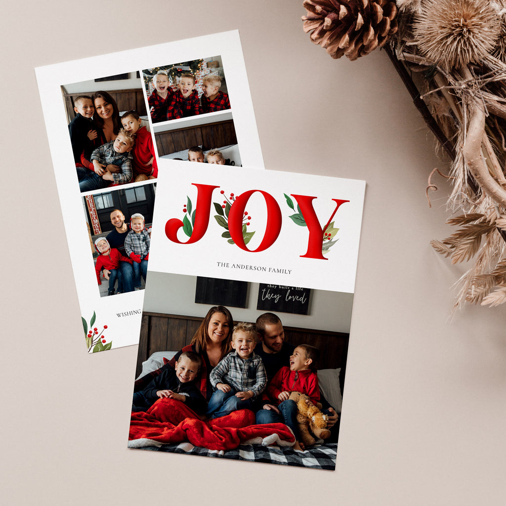 Happy Joy - Holiday Card - Salsal Design