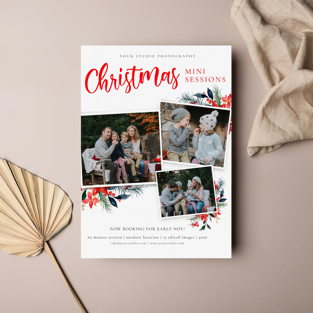 Playful Layout - Christmas Mini Session Template-Template-Salsal Design