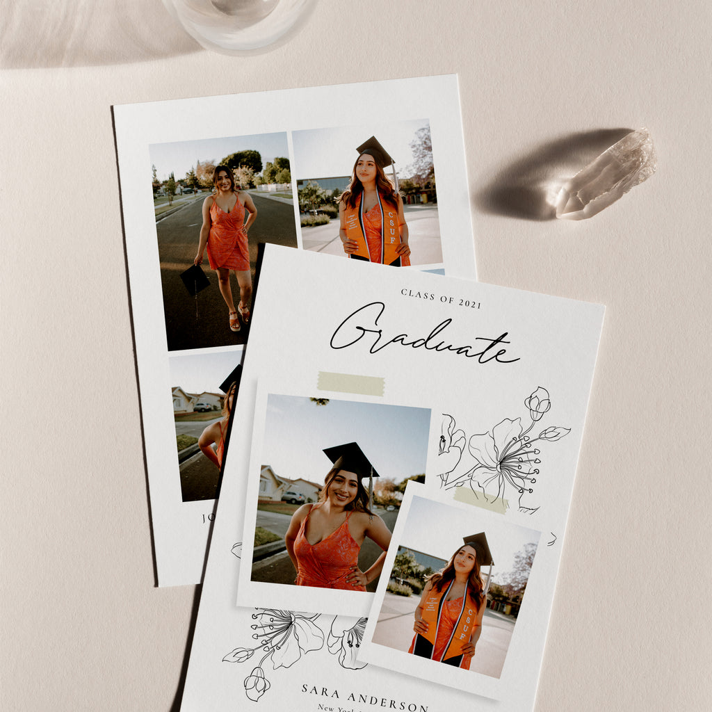 Classic Beauty - Graduation Announcement Template-Template-Salsal Design