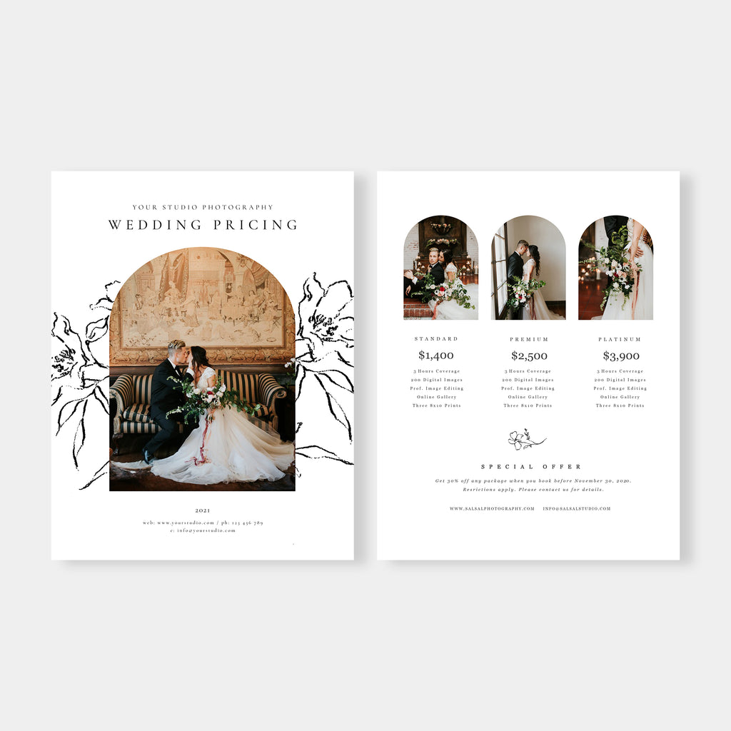 Everlasting - Wedding Photography Price Guide Template-Template-Salsal Design