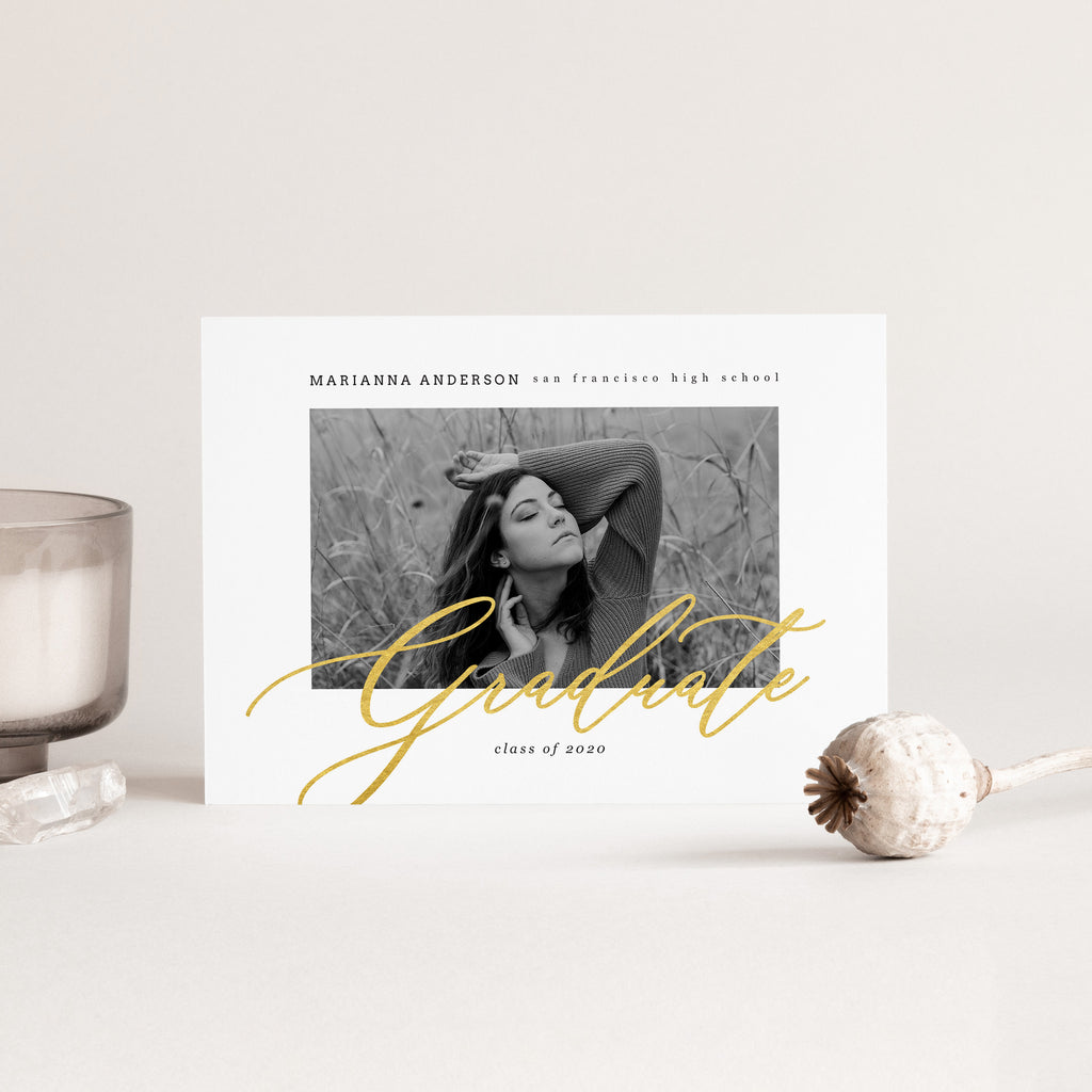Gold 2020 - Graduation Announcement Template-Template-Salsal Design
