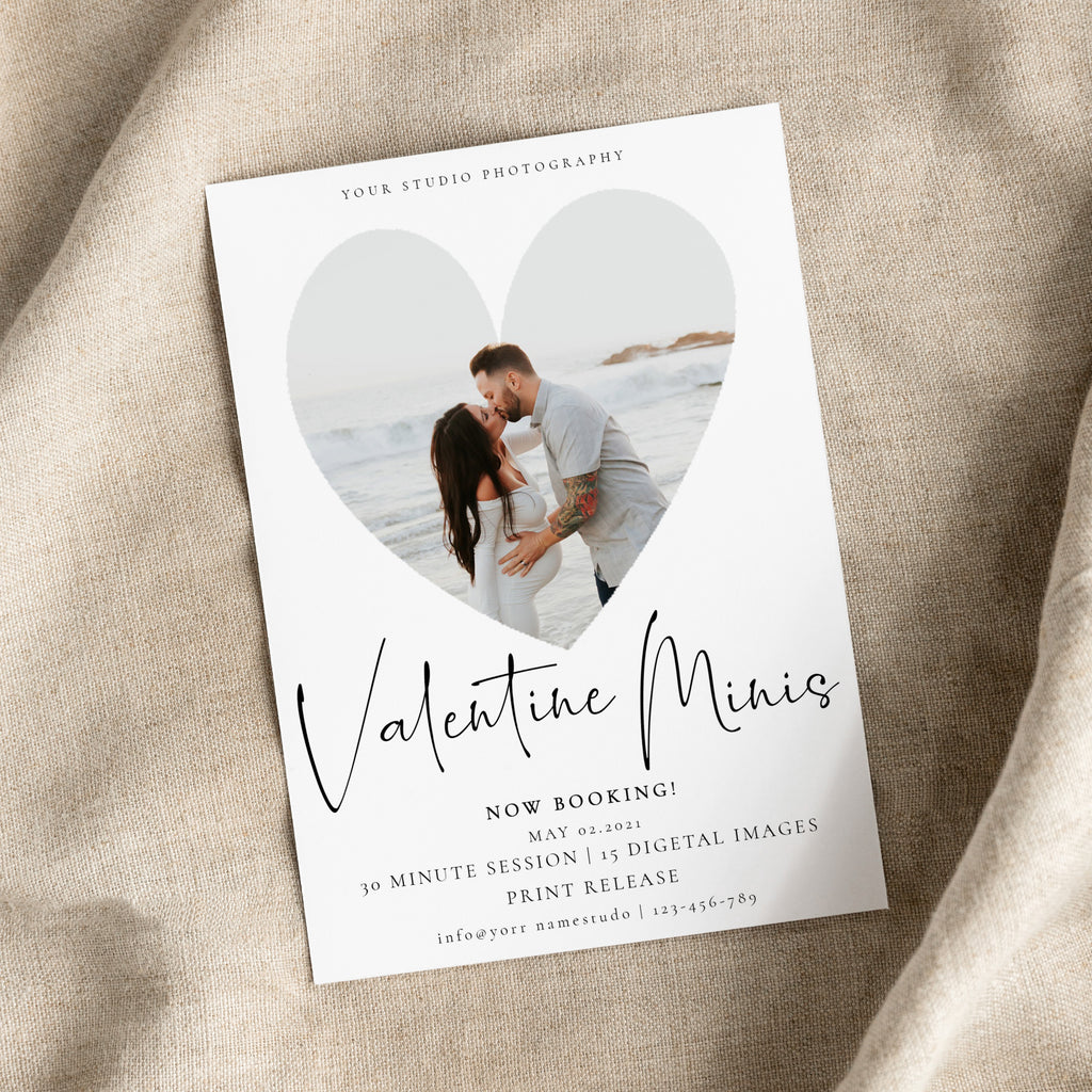 Simple Heart - Valentine Mini Session Template-Template-Salsal Design