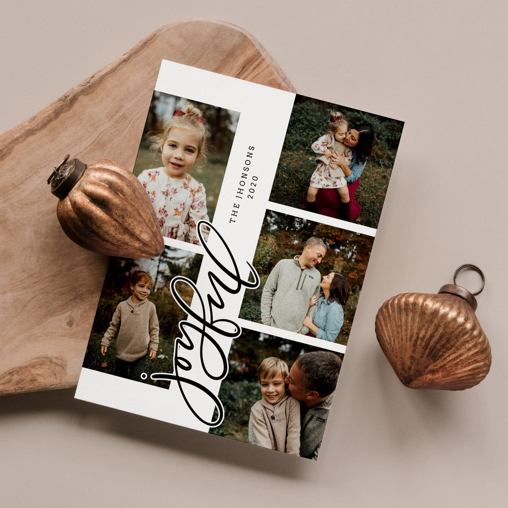 Joyful - Christmas Card - Salsal Design