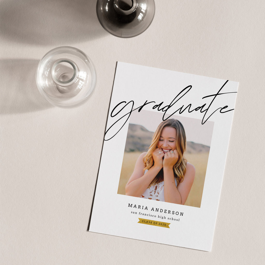 Classic - Graduation Announcement Template - Salsal Design