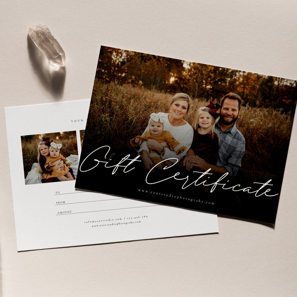 Little Gift - Photographer Gift Certificates Template-Template-Salsal Design