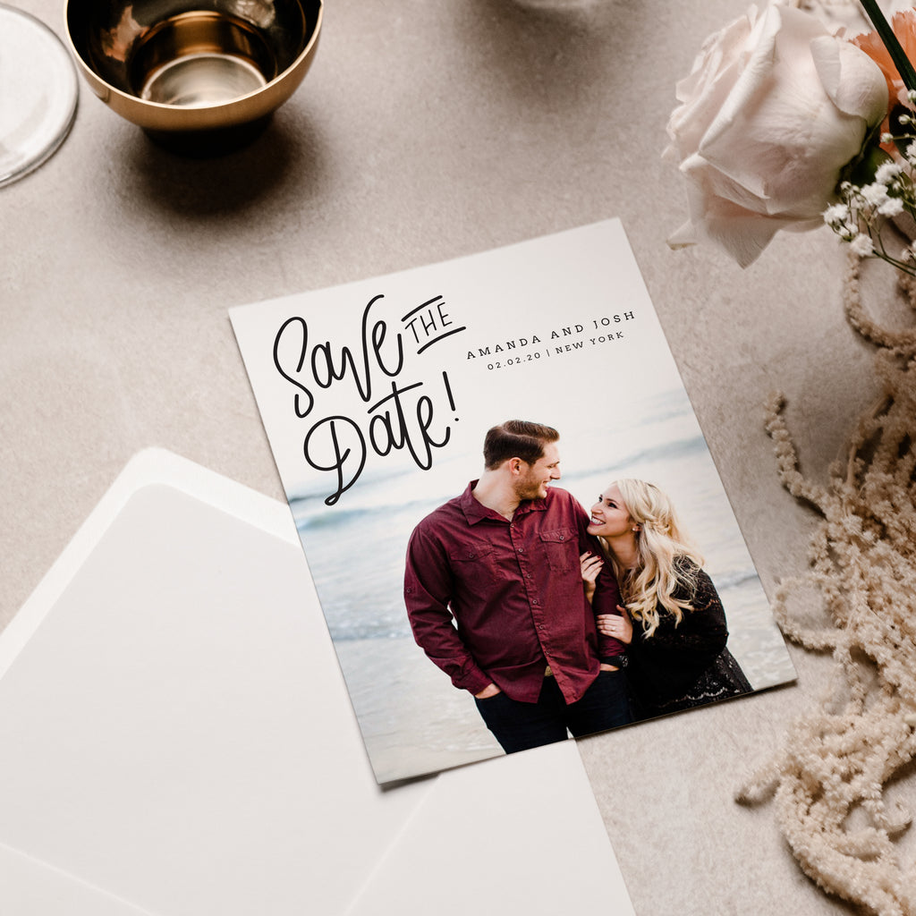 Modern Date - Save The Date - Salsal Design