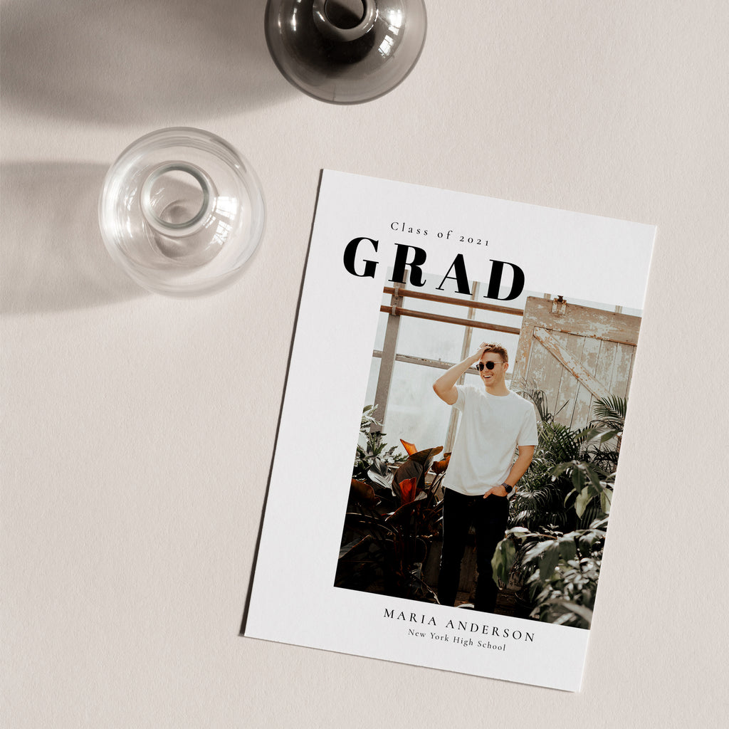 Minimal Design - Graduation Announcement Template-Template-Salsal Design